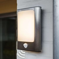 Face LED wall light for outdoor with sensor