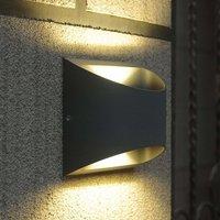 Semi circular Dodd LED outdoor wall lamp aluminium