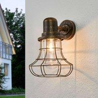 Antique looking outdoor wall light Bird