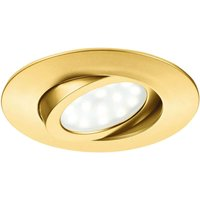 Gold LED recessed light Zenit with IP44