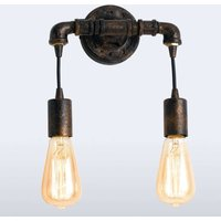 Industrial wall light Amarcord with rust surface