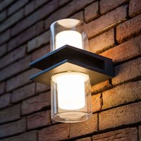 Tango LED outdoor wall light with double glass