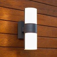 Cyra outdoor wall light with rotatable LEDs