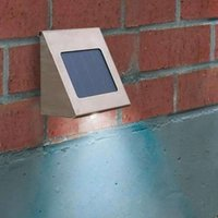 Shine solar wall spotlight stainless steel LED