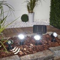Trio PIR solar spotlight in 3 piece set