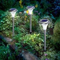 Capri solar light stainless steel 3 piece set