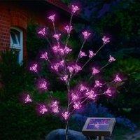 Solar LED flower shrub