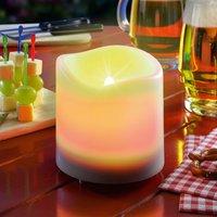 White LED solar candle Candle Light