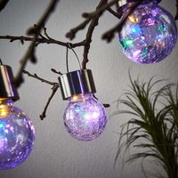 LED solar hanging lamp Colour Ball  set of 3