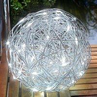 Outdoor light LED solar aluminium wire ball