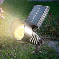 Black LED solar Spotlight with RGB light