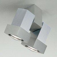 STYLE Q ceiling or wall spotlight 2 bulb aluminium