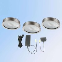 set of 3 Cubic 68 warm white LED recessed light