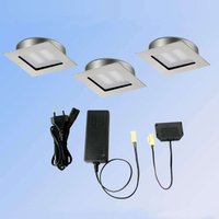 Three Cubic 68 square LED recessed lights  2700 K
