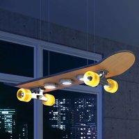 Light Cruiser   LED pendant lamp skateboard shape