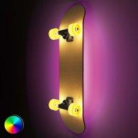 Skateboard with light  Light Cruiser LED wall lamp