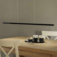 Orix remote control LED pendant light black 120 cm