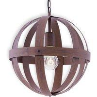 Metal Westburg pendant light with a rust look
