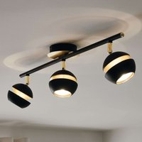 Black and gold 3 bulb Nocito LED ceiling lamp