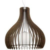 Brown Tindori hanging light with wooden slats