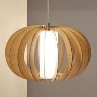 Brown wooden pendant light Stellato  50 cm