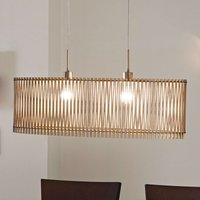 Sendero   wooden pendant light with natural design