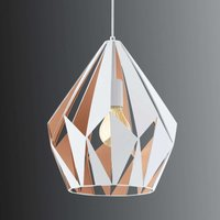 Carlton pendant lamp white and gold 31 cm diameter