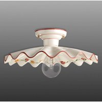 Semi flusch ceramic ceiling light Ametista