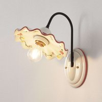 Ceramic wall light Ametista with iron arm