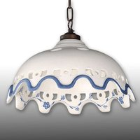 Chantal ceramic hanging light wtih chain