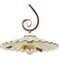 Hanging light Rusticana  S shaped suspension