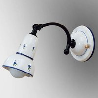 Blue patterned wall light Ella  movable spotlight