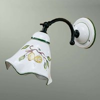 Ceramic wall light Felicia with lemon pattern