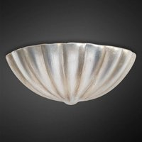 Ceramic wall light Violetta   silver plated
