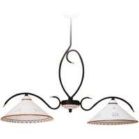 Pretty linear ceiling light Bettina two bulb