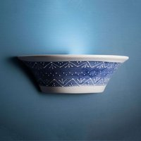 Blue white ceramic wall light Nelli