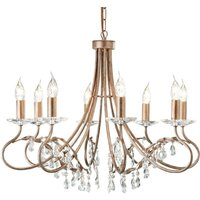 Christina Chandelier Eight Bulbs Silver   Gold