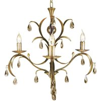 Lily Chandelier Playful Bronze Metallic Five Bulbs