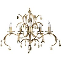 Lily Chandelier Playful Bronze Metallic Three Bulb