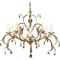 Lily Chandelier Playful Bronze Metallic Eight Bulb