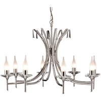 Brightwell Chandelier Eight Bulbs Polished Nickel