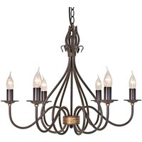 Windermere chandelier with six bulbs