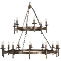 Cromwell Chandelier Medieval Eighteen Bulbs