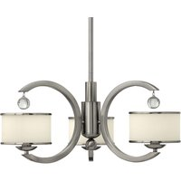 Monaco Hanging Light Modern Nickel Three Bulbs