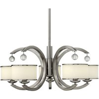 Monaco Hanging Light Modern Nickel Five Bulbs