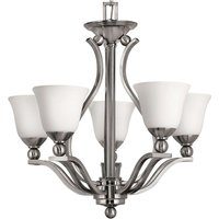 Bolla Hanging Light Nickel Five Bulbs
