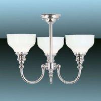 Cheadle Bathroom Ceiling Light Three Bulbs