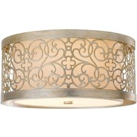 Arabesque ceiling light with double lampshade