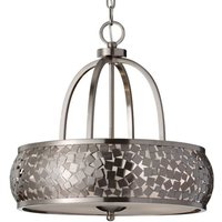 Zaria   Hanging Light in Brushed Steel Elegant