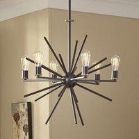 Unique Carnegie hanging light  8 bulbs